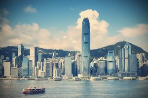Star Ferry and Hong Kong Island Skyline, Hong Kong by Ian Trower