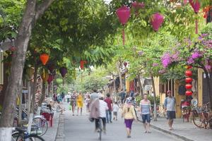 Street Scene, Hoi An, Quang Nam, Vietnam, Indochina, Southeast Asia, Asia by Ian Trower