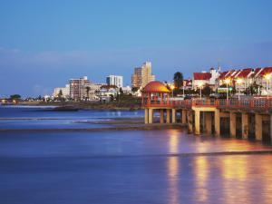 Summerstrand Beachfront at Dusk, Port Elizabeth, Eastern Cape, South Africa by Ian Trower