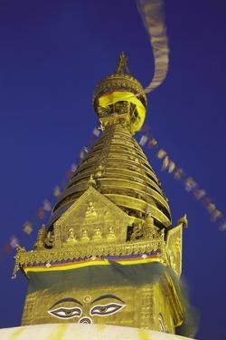 Swayambhunath Stupa, UNESCO World Heritage Site, Kathmandu, Nepal, Asia by Ian Trower