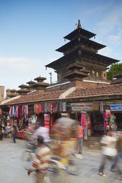 Taleju Temple, Durbar Square, UNESCO World Heritage Site, Kathmandu, Nepal, Asia by Ian Trower