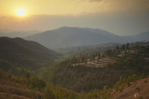 Terraced Fields, Dhulikhel, Kathmandu Valley, Nepal, Asia by Ian Trower