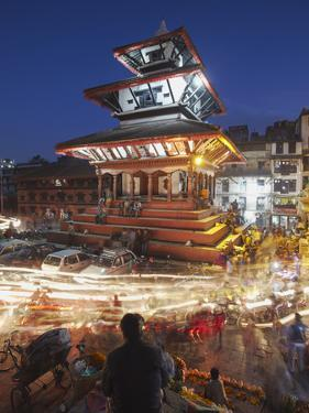 Trailokya Mohan Narayan Temple, Durbar Square (UNESCO World Heritage Site), Kathmandu, Nepal by Ian Trower