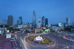 View of City Skyline at Dusk, Ho Chi Minh City, Vietnam, Indochina, Southeast Asia, Asia by Ian Trower