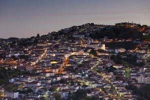View of Diamantina. UNESCO World Heritage Site, at Sunset, Minas Gerais, Brazil, South America by Ian Trower