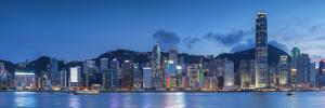 View of Hong Kong Island Skyline at Sunset, Hong Kong by Ian Trower