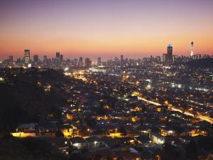 View of Johannesburg Skyline at Sunset, Gauteng, South Africa by Ian Trower