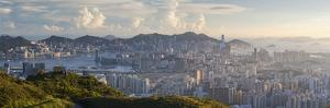 View of Kowloon and Hong Kong Island from Tate's Cairn, Kowloon, Hong Kong by Ian Trower