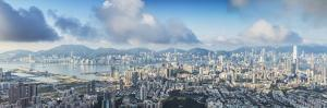 View of Kowloon and Hong Kong Island, Hong Kong, China by Ian Trower