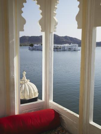 View of Lake Palace Hotel From Jagat Niiwas Palace Hotel, Udaipur, Rajasthan, India, Asia by Ian Trower
