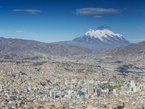 View of Mount Illamani and La Paz, Bolivia by Ian Trower
