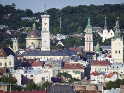 View of Old Town, Lviv, UKraine