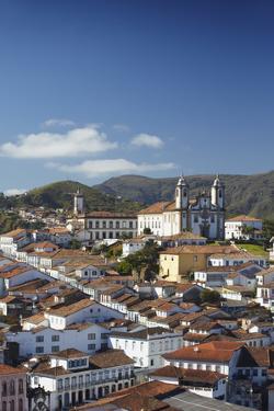 View of Ouro Preto, UNESCO World Heritage Site, Minas Gerais, Brazil, South America by Ian Trower
