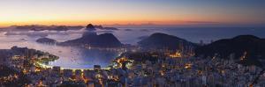 View of Sugarloaf Mountain and Botafogo Bay at Dawn, Rio De Janeiro, Brazil by Ian Trower