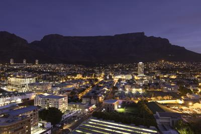 View of Table Mountain at dusk, Cape Town, Western Cape, South Africa, Africa by Ian Trower