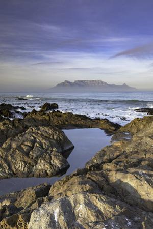 View of Table Mountain from Bloubergstrand, Cape Town, Western Cape, South Africa, Africa by Ian Trower