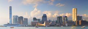 View of Tsim Sha Tsui and International Commerce Centre (Icc), Hong Kong, China by Ian Trower