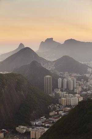 View of Urca and Botafogo, Rio de Janeiro, Brazil, South America