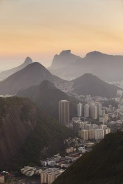View of Urca and Botafogo, Rio de Janeiro, Brazil, South America by Ian Trower
