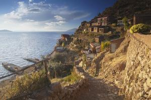 Village of Yumani on Isla del Sol (Island of the Sun), Lake Titicaca, Bolivia, South America by Ian Trower