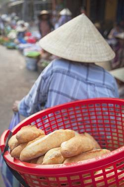 Women Selling Vegetables at Market, Hoi An, Quang Nam, Vietnam, Indochina, Southeast Asia, Asia by Ian Trower