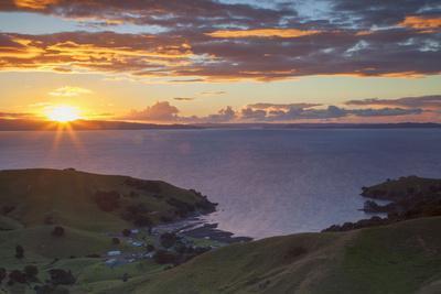 View of Kirita Bay and Firth of Thames at Sunset