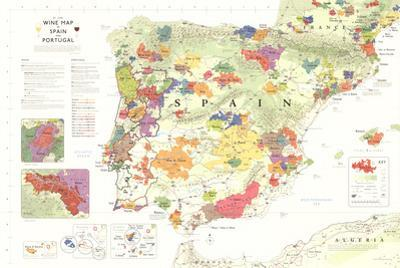 Iberia Wine Map (Spain & Portugal) Poster
