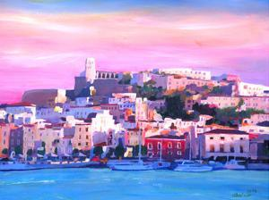 Ibiza Old Town And Harbour Pearl Of The Mediterranean by M Bleichner