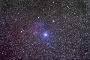 Ic 59 and IC 62 Faint Reflection Nebulae Near Gamma Cassiopeia