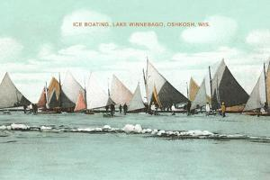 Ice Boating, Lake Winnebago