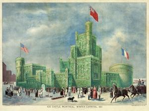 Ice Castle, Montreal - Winter Carnival 1887