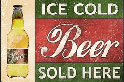 Ice Cold Beer Sold Here Plastic Sign