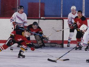 Ice Hockey Game Action