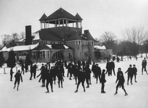 Ice Skating at Belle Isle, Detroit, Michigan