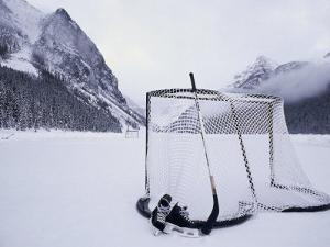 Ice Skating Equipment, Lake Louise, Alberta
