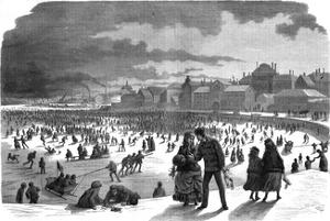 Ice Skating in Stockholm Harbour in Winter