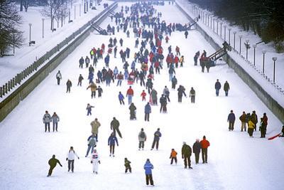 Ice Skating, Winterlude, Winterlude Festival, Ottawa, Ontario, Canada