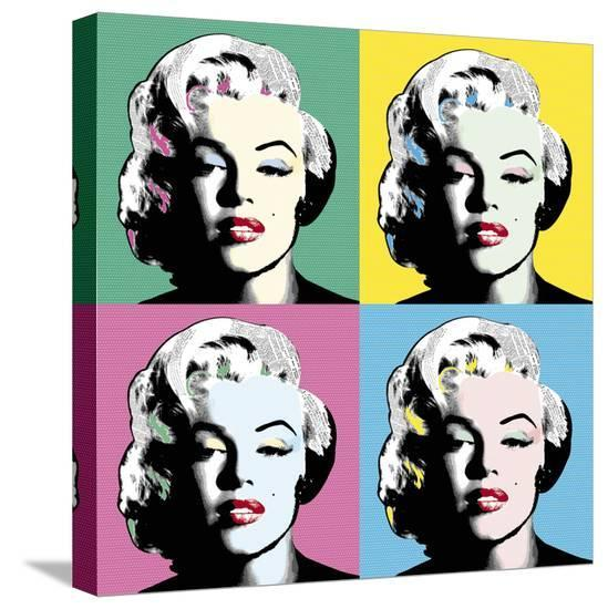 Icon in Colour-Clara Wells-Stretched Canvas Print