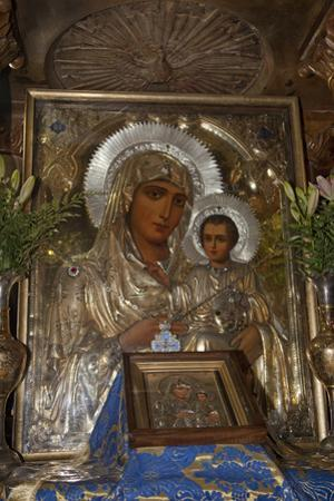 Icon of Mary and Jesus, Tomb of the Virgin Mary, Jerusalem, Israel, 2009