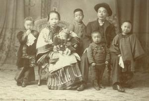 Chinese Family, Circa 1890 by Ida B. Smith
