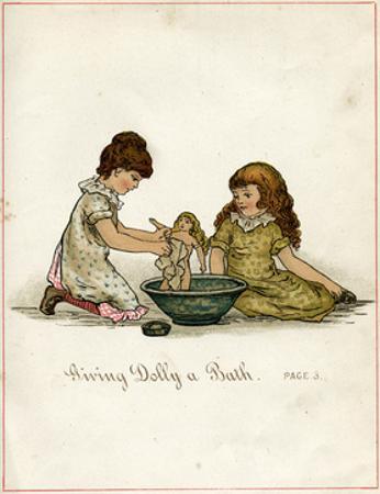 Giving Dolly a Bath