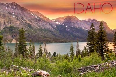 https://imgc.allpostersimages.com/img/posters/idaho-lake-and-peaks-at-sunset_u-L-Q1GQH2K0.jpg?p=0