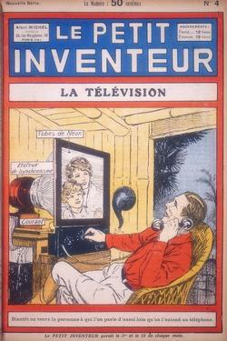 Idea for a Video-Phone Using Neon Tubes to Give the Picture Display, C1927