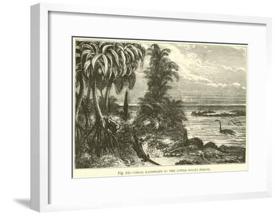 Ideal Landscape of the Lower Oolite Period--Framed Giclee Print