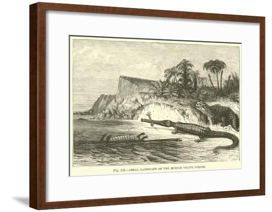 Ideal Landscape of the Middle Oolite Period--Framed Giclee Print