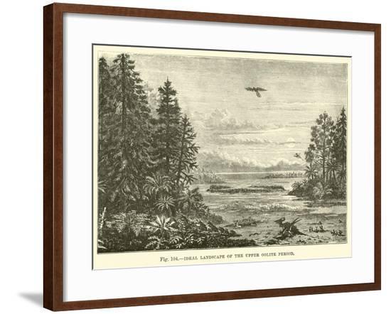 Ideal Landscape of the Upper Oolite Period--Framed Giclee Print