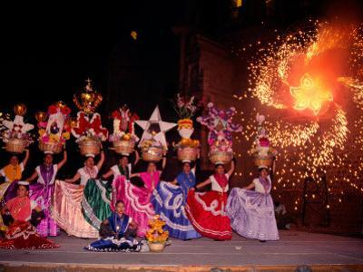 Dance and Fireworks called Bani Stui Gulal Tells the Story of the Guelaguetza, Oaxaca, Mexico