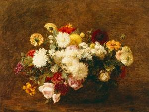 Bouquet of Flowers, 1894 by Ignace Henri Jean Fantin-Latour