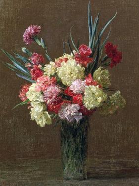 Carnations by Ignace Henri Jean Fantin-Latour