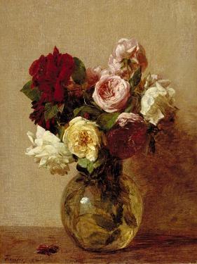 Roses, 1884 by Ignace Henri Jean Fantin-Latour
